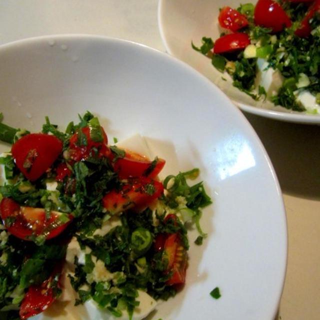 火を使わない料理 レンチン レンジでランチと分割オムライス 茄子のトマト煮 和アボガドトマト