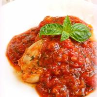 鶏肉のハーブトマト煮込み*チキンカチャトーラ