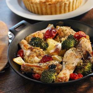 クリスマスに作りたい!リース風手羽元のオーブン焼き&手作りミートソースのラザニア