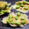 【ぎふベジ】材料2つ♪ レンジで簡単えだまめチーズ煎餅。