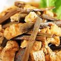 ■自家製干物活用【昨年度干して保存して置いた芋茎(ズイキ)とお揚げの甘辛炒め煮】
