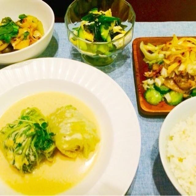 味噌クリームのロール白菜☆昨日の晩御飯♩