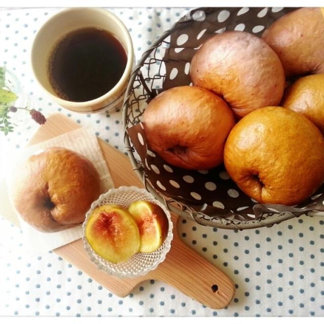 今日のパン♡秋の香りベーグル焼きました~♬(* ̄∇ ̄*)