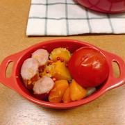 野菜とウインナーの塩レモンとオリーブオイルの蒸し煮