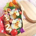 仲良し酉年親子の巻き寿司弁当♡