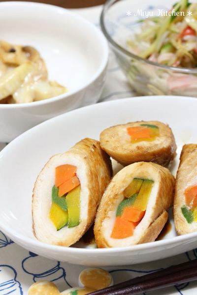 鶏スライス肉 de チキンロール☆筍ときのこのチーズ焼き
