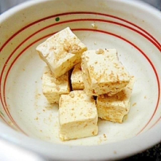 簡単おつまみ★塩麹豆腐のおかかまぶし