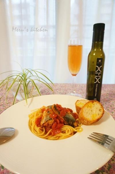 【レシピ】 骨まで柔らか!サンマのトマトソースパスタ