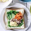 卵とツナのサラダサンドイッチ