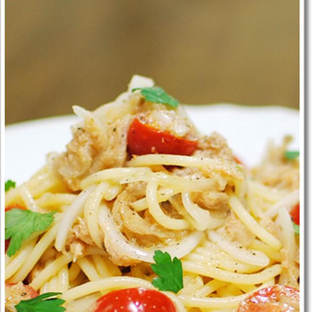 まさかの2日連続ツナとトマトの冷製スパゲッティ