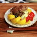 野菜たっぷりの生姜焼き/茄子の南関和え by filleさん