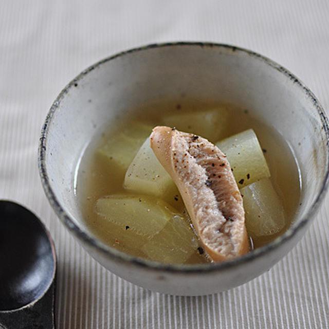 瓜とウインナーのスープ