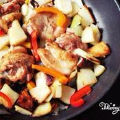 パーティー料理におすすめ!具だくさん野菜と鶏もも肉のソテー