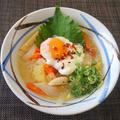 食べやすいを追求・・・落としたまご入り味噌にゅう麺♪・・♪ by みなづきさん