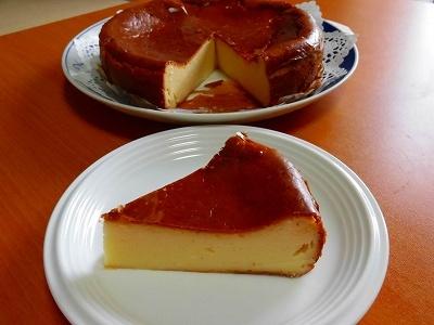 いつもの簡単チーズケーキ焼きました~