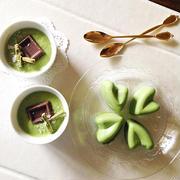 抹茶の豆腐アイス。