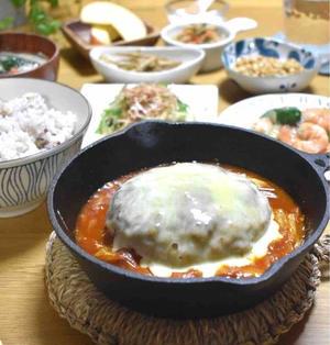 【レシピ】キムチーズ煮込み豆腐ハンバーグ#煮込みハンバーグ#発酵食品#食慾増進