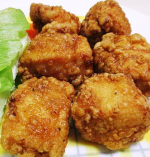 鶏むね肉の唐揚げ焼肉のタレ味<調味料はタレだけ♪>