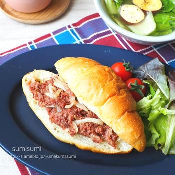 肉より高いコンビーフサンド