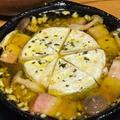 <とろ~りカマンベールチーズのアヒージョ>はチーズフォンデュのようです。<がっつり青菜炒め(春菊)>