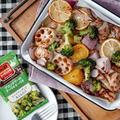 【S&B】シーズニングで超簡単!GWにボリューム満点鶏肉とたっぷり野菜のぎゅうぎゅう焼き#pr