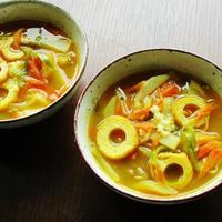 ちくわのちょっとエスニック野菜スープ