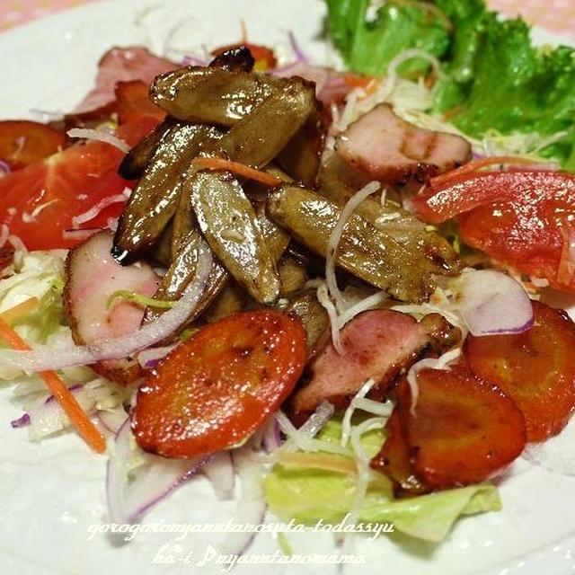 <美人ごぼう 人参チップスのサラダ(バルサミコ風味)>野菜ソムリエ便より(´∀`)(´∀`)