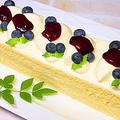 マスカルポーネとブルーベリーの四角いケーキ by HiroMaruさん