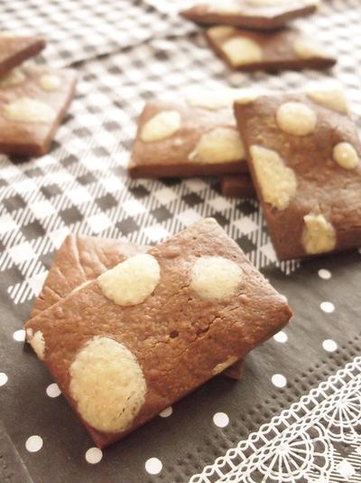 バレンタインに♪水玉模様のチョコクッキー