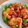 #688 鱧フライ トマトとプラムとミントのソース
