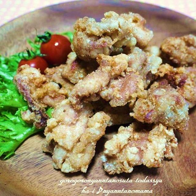<塩麹とにんにくの香り豊かな鶏の唐揚げ>