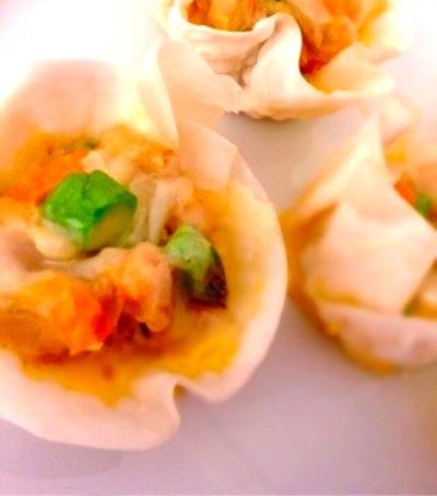 餃子カップで*ツナと春野菜の彩りひとくちキッシュ*