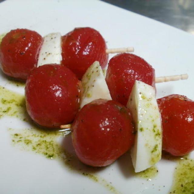 プチトマトの美味しいマリネでカプレーゼ