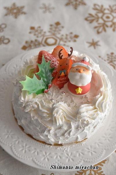 レンジで簡単!クリスマスケーキ