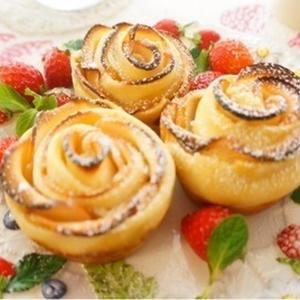 バラのデザインが可愛い♪「ローズアップルパイ」レシピ