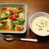 10分で元気に朝ごはん:トマトスープ・ゴハン