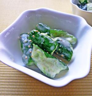 たたき胡瓜の酒粕漬☆生姜風味