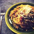 買い物に行かず、家にある食材でテキトウに作っちゃうスパゲティって結構好き!