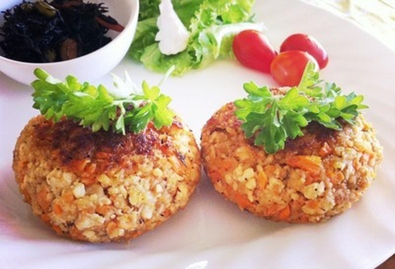 食感が楽しい♪ヘルシー&栄養たっぷり「根菜ハンバーグ」