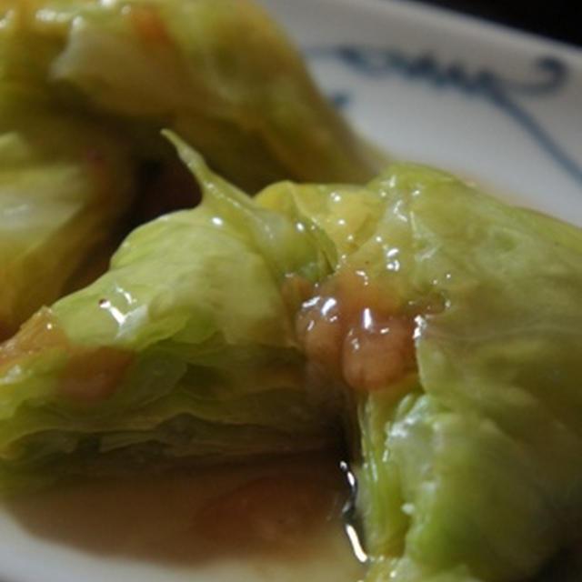 キャベツと湯葉のミルフィーユの梅肉餡、至福のホッケ開きで……やはり和食に限ります