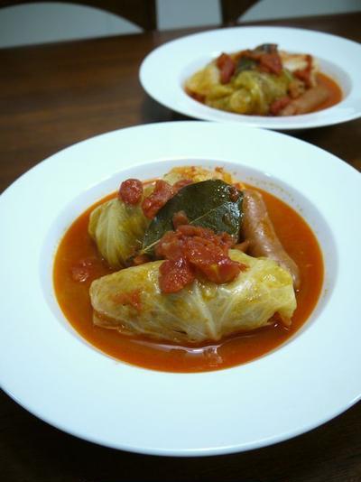 我が家のロールキャベツ♪トマトスープ味♪
