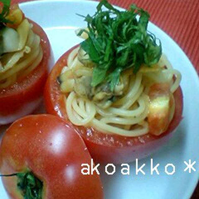 アサリとトマトの冷たいスパゲティ