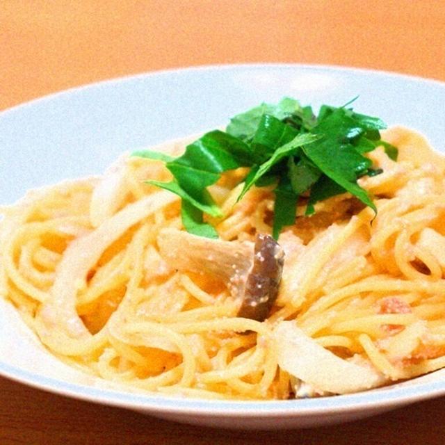 低カロリー!豆乳とエリンギの明太子クリームパスタ