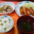 グリンピースご飯と、超簡単!手羽中のコチュジャン焼き by とりちゃんマミィさん