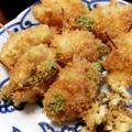 美味しいを足し算したフライ『海老』『豚薄切り肉』『アスパラ』『長芋』