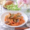 【イタリア料理】ボンゴレロッソ(アサリのトマトパスタ)フライパン&電子レンジ調理の2レシピ