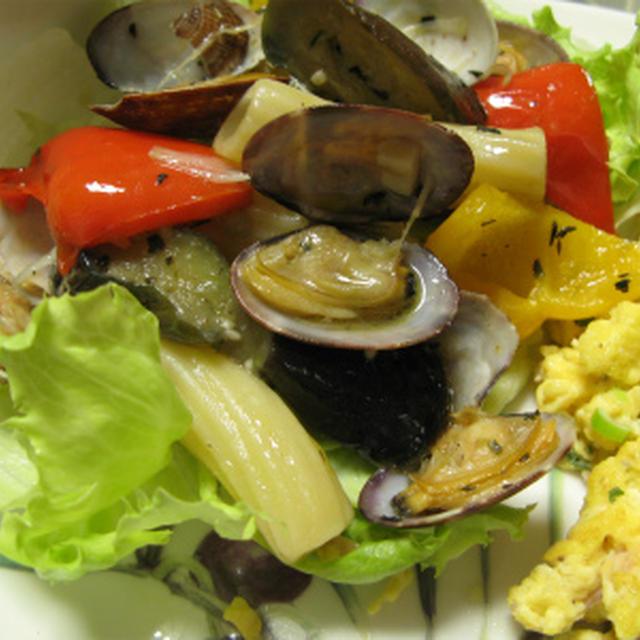 あさりとカラフル野菜のハーブソテー(レシピ)