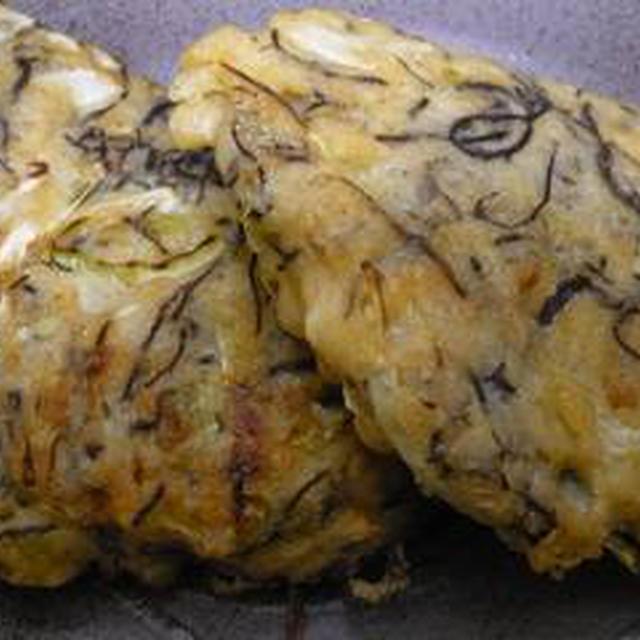 もずくの天ぷらとお好み焼き