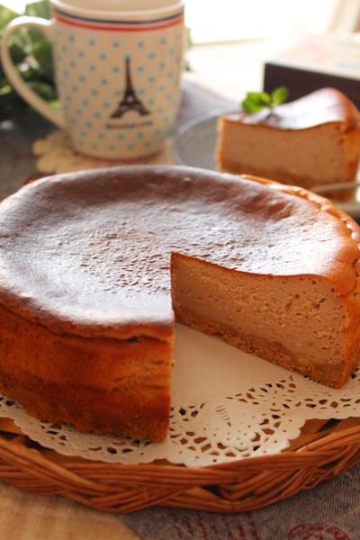黒大豆のベイクドチーズケーキ