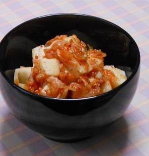 5分で出来る!簡単おつまみ、サッパリでピリ辛箸休め長芋キムチ。